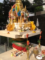 Altar outside the hotel
