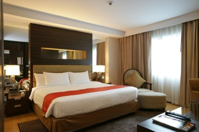 The bedroom at the Legacy