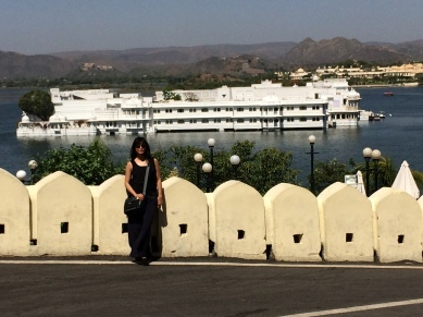 Lake Palace in the distance