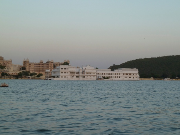 In the distance, the Lake Palace