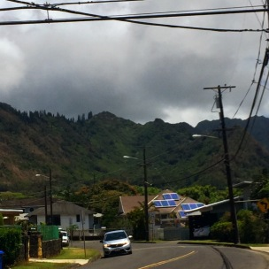 The lovely Ko'olau Mountains