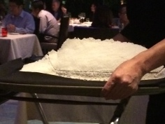 les poisson in its ice casket