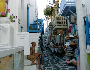 mykonos shopping