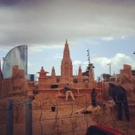 Sand Castle being built